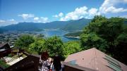 河口湖天上山公園 カチカチ山ロープウェイ